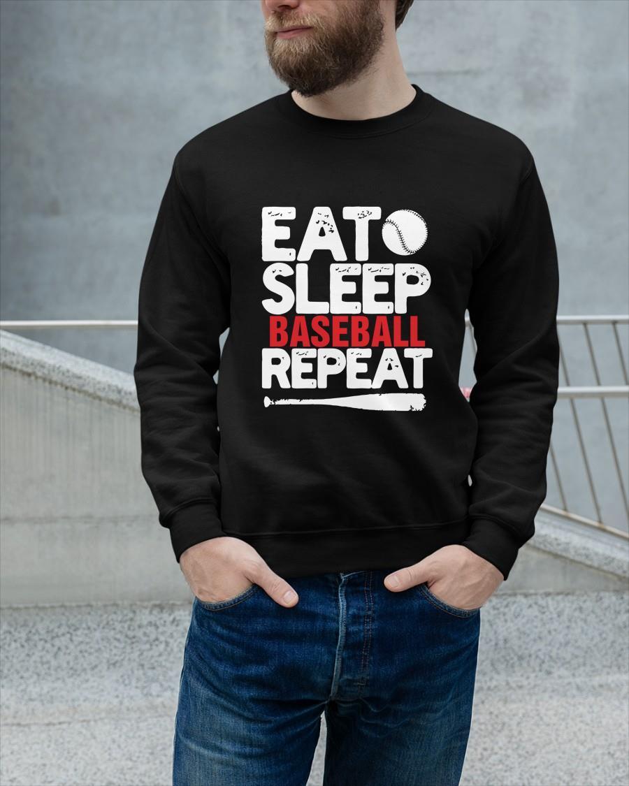 Eat Sleep Baseball Repeat Longsleeve