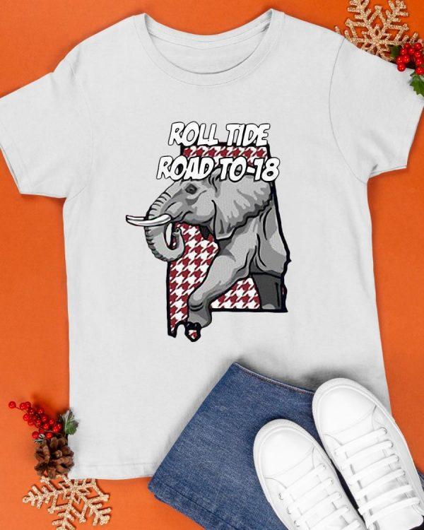 Elephant Roll Tide Road To 18 Shirt
