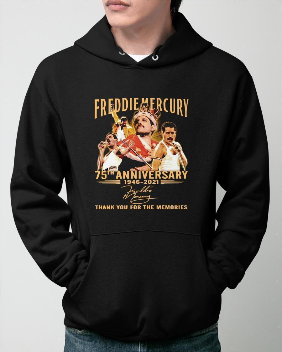 Freddie Mercury 75th Anniversary 1946 2021 Thank You For The Memories Hoodie