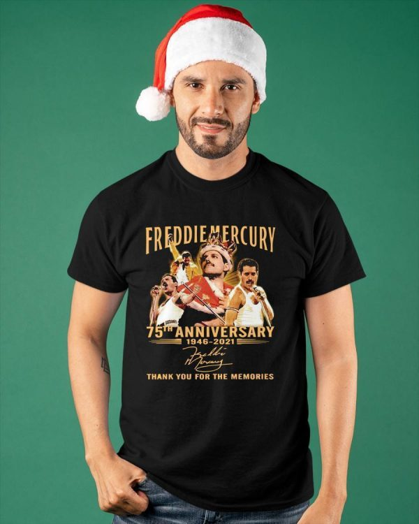 Freddie Mercury 75th Anniversary 1946 2021 Thank You For The Memories Shirt