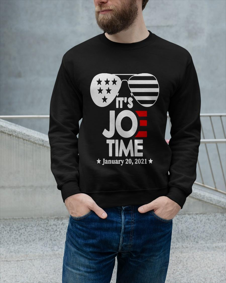 Glasses Us Flag It's Joe Time January 20 2021 Longsleeve