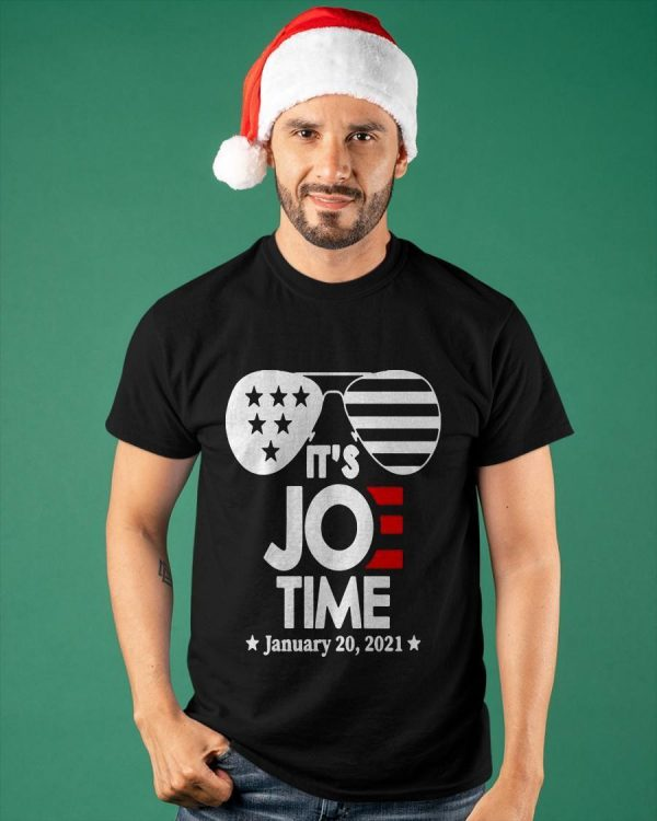 Glasses Us Flag It's Joe Time January 20 2021 Shirt