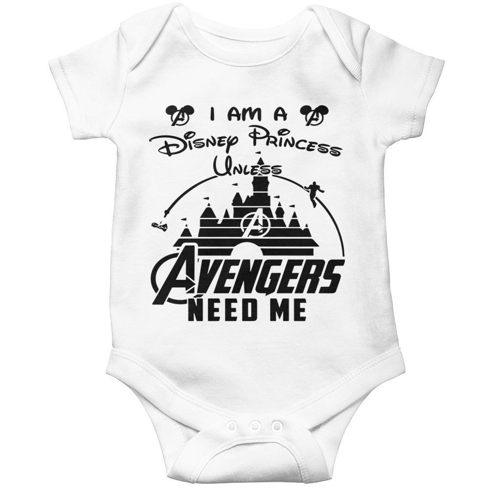 I Am A Disney Princess Unless Avengers Need Me Longsleeve