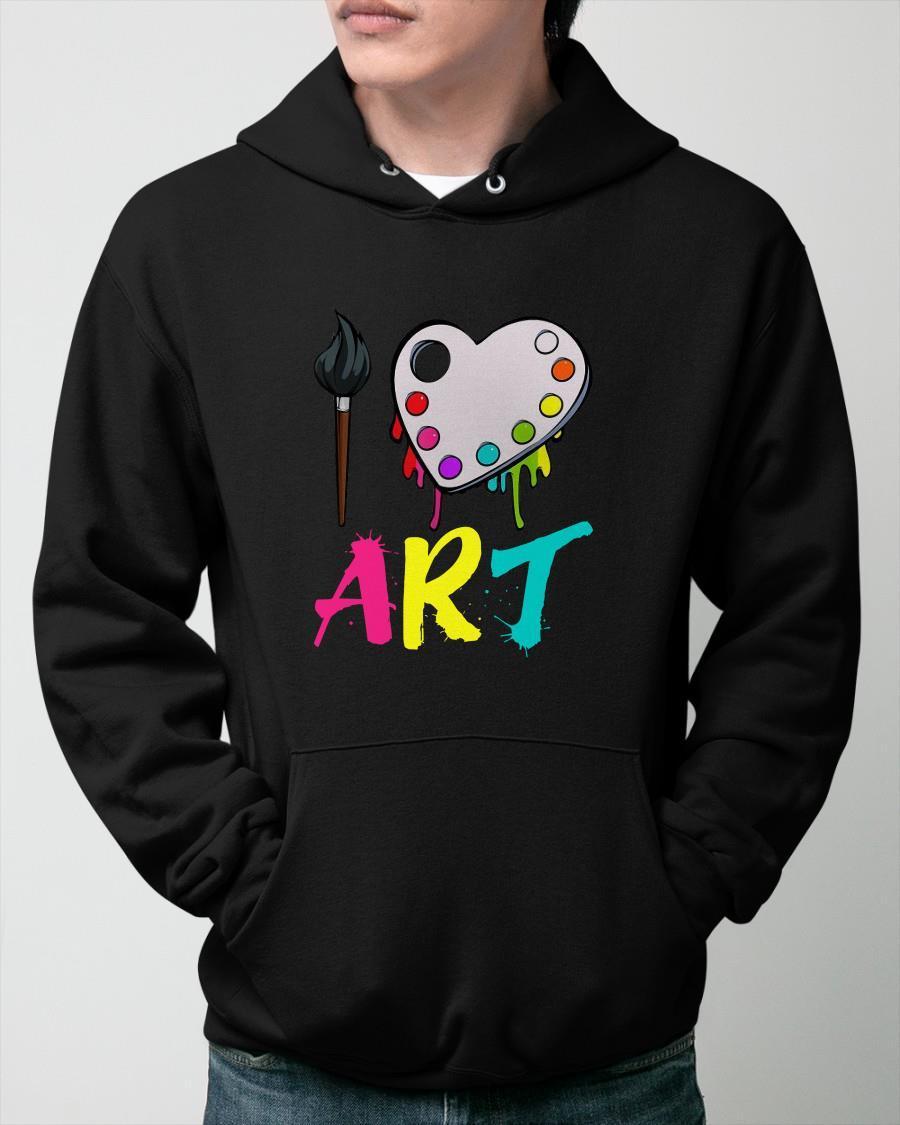 I Love Art Hoodie