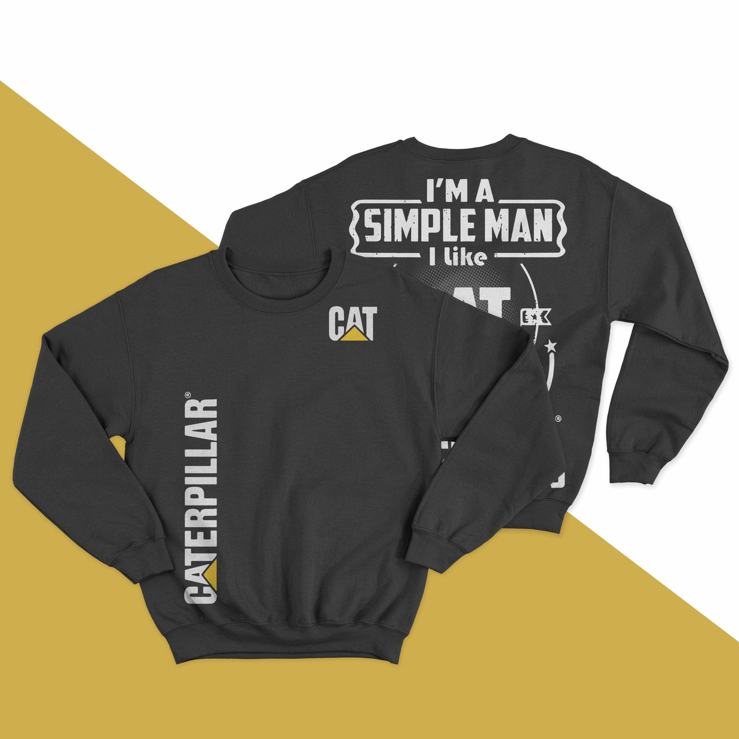 I'm A Simple Man I Like Cat Caterpillar Beer And Boobs Longsleeve