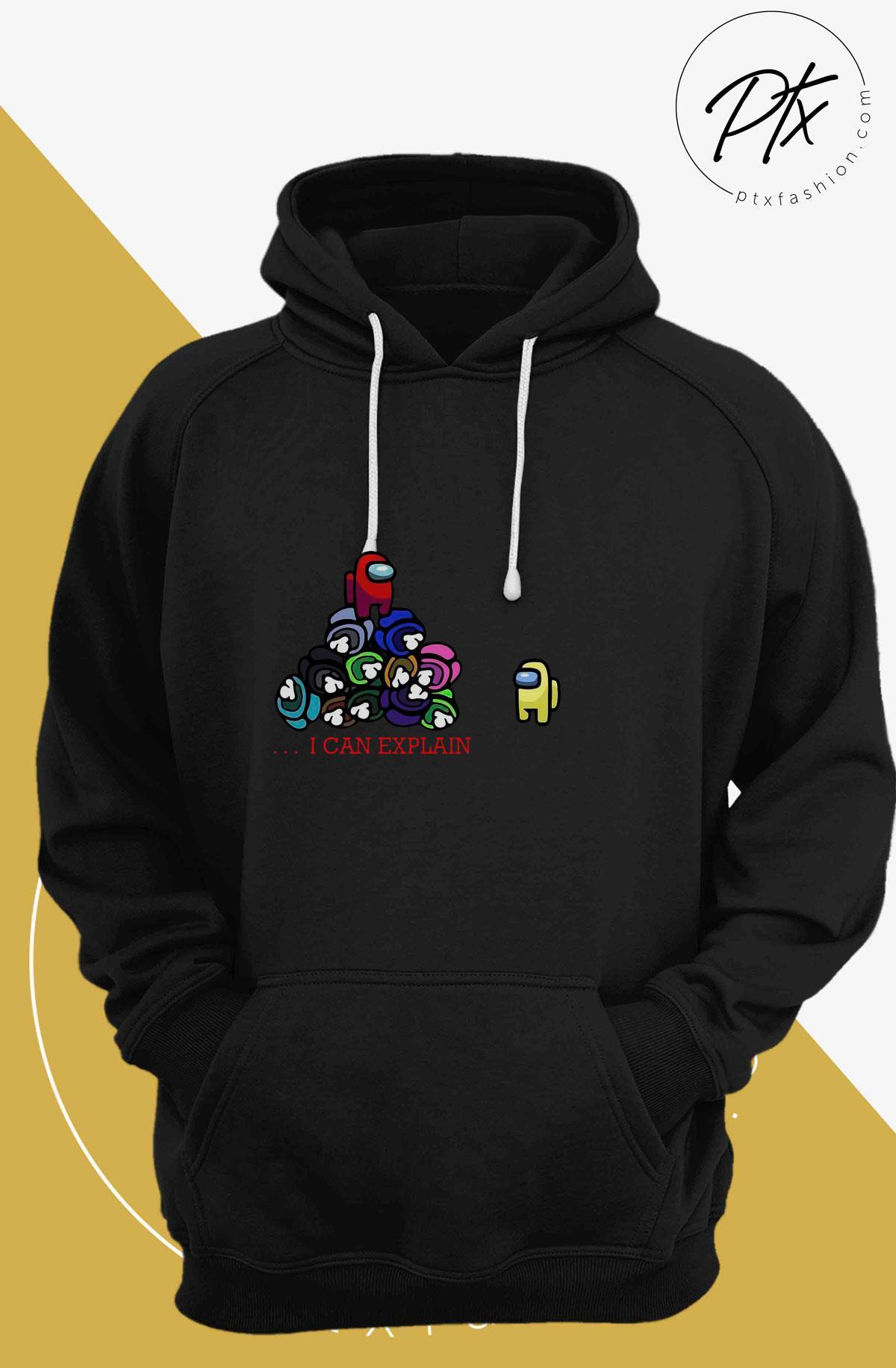Impostor Among Us I Can Explain Hoodie