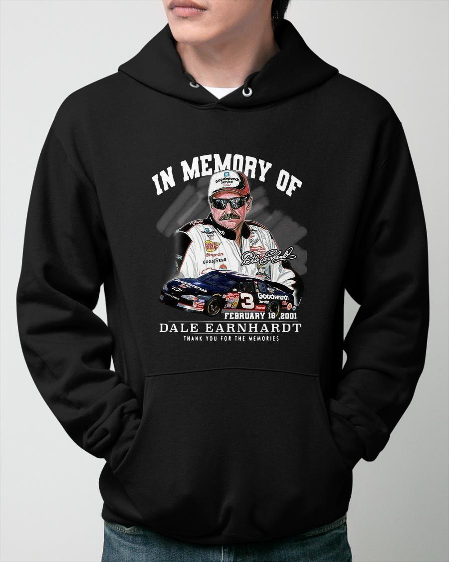 In Memory Of Dale Earnhardt Thank You For The Memories Hoodie