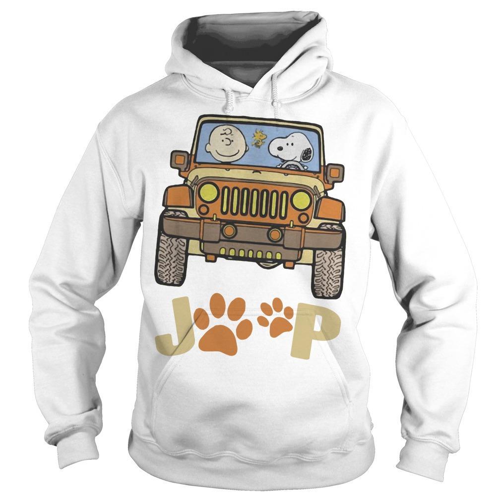 Jeep Paw Dog Charlie Brown And Snoopy Hoodie
