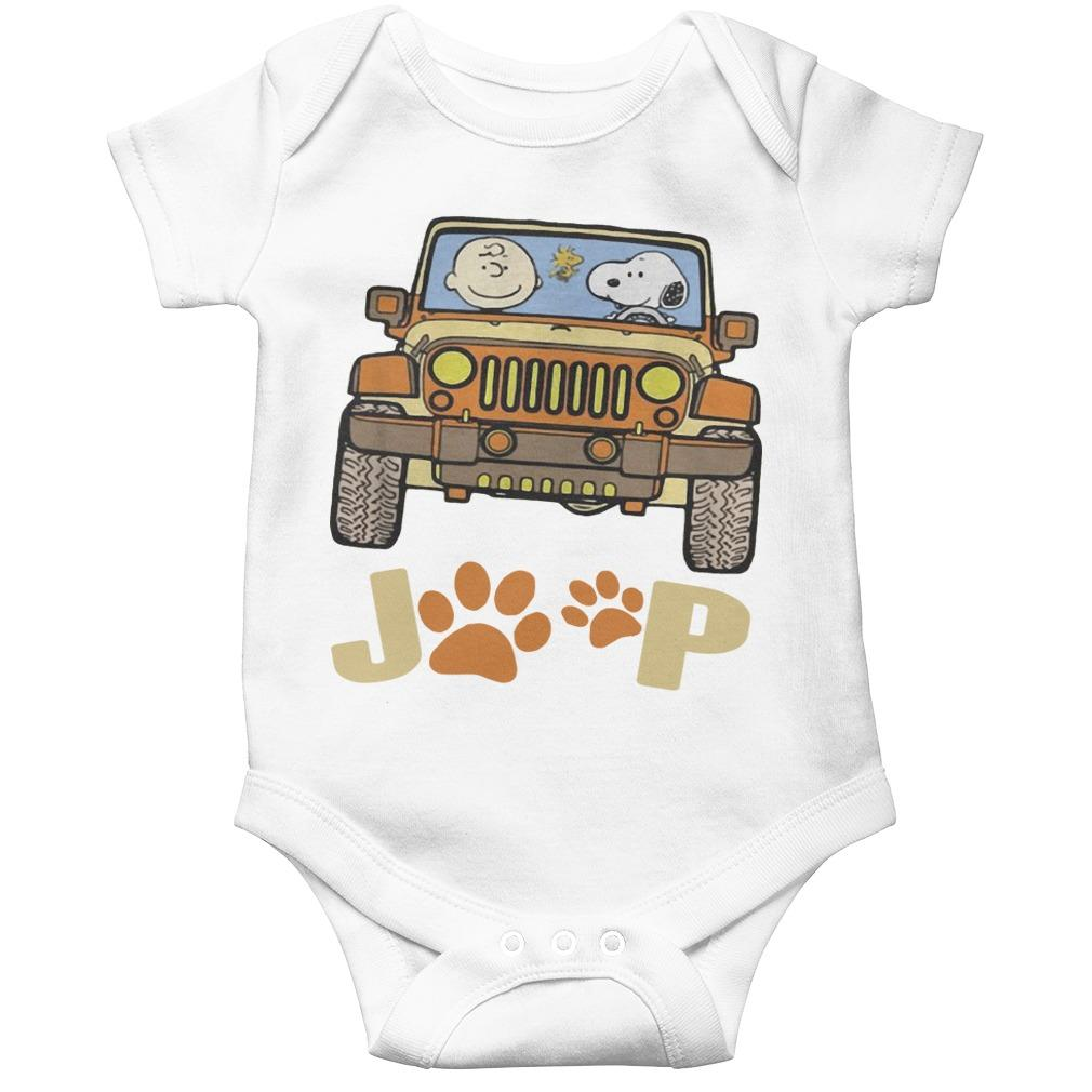 Jeep Paw Dog Charlie Brown And Snoopy Longsleeve