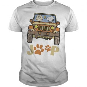 Jeep Paw Dog Charlie Brown And Snoopy Shirt