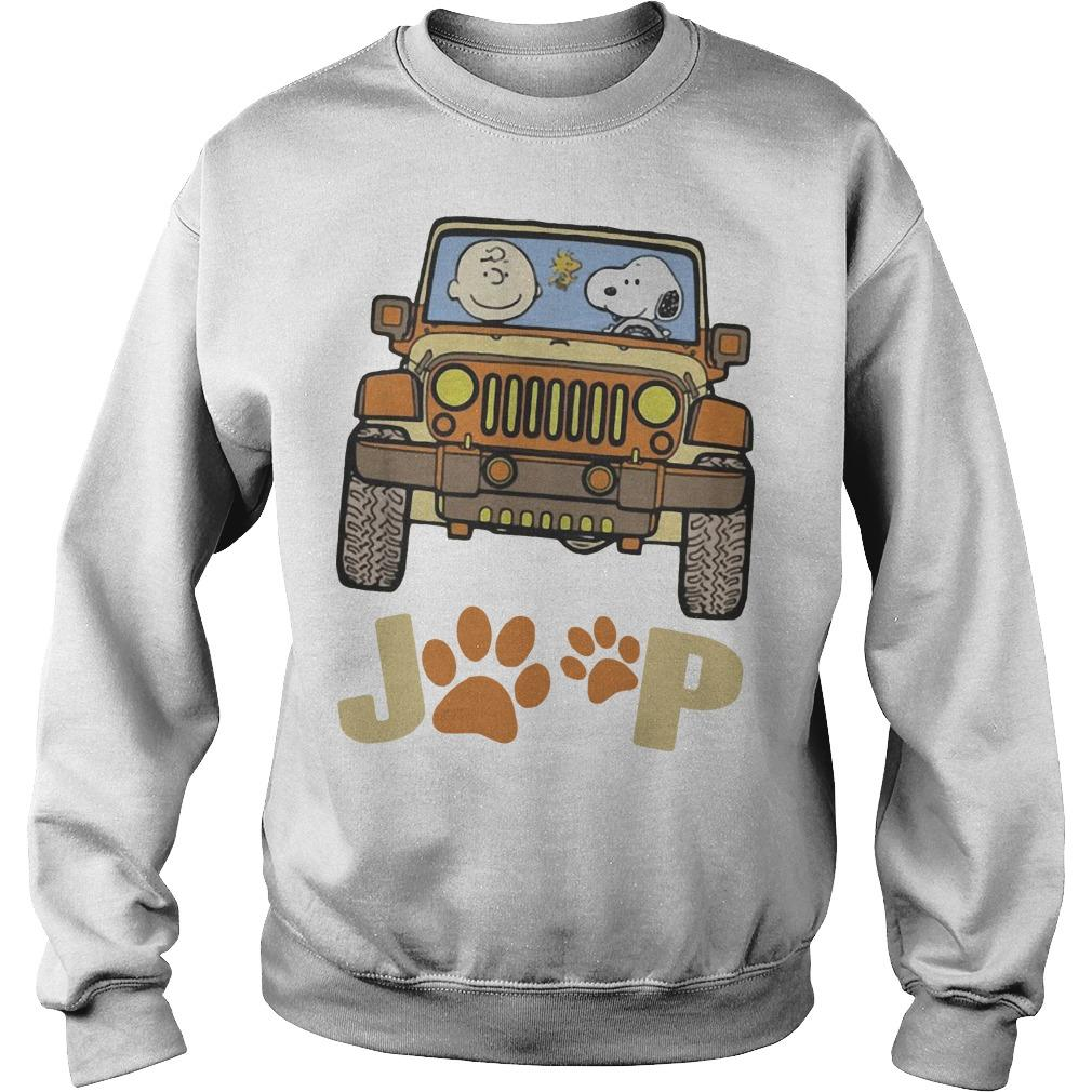 Jeep Paw Dog Charlie Brown And Snoopy Sweater