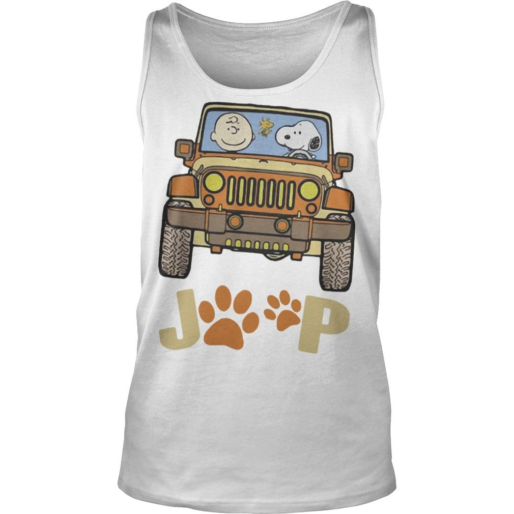 Jeep Paw Dog Charlie Brown And Snoopy Tank Top