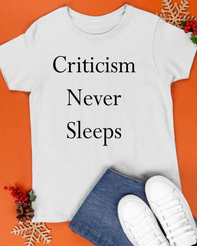 Jerry Saltz Criticism Never Sleeps Shirt