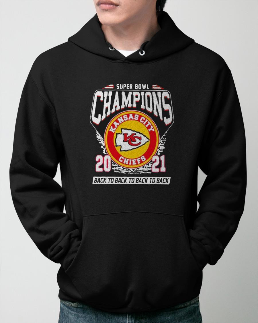Kansas City Chiefs Super Bowl Champions 2021 Back To Back Hoodie