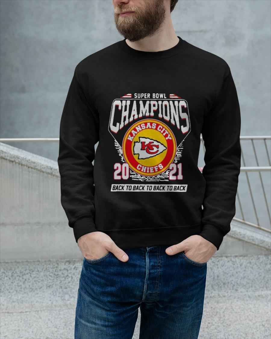 Kansas City Chiefs Super Bowl Champions 2021 Back To Back Longsleeve