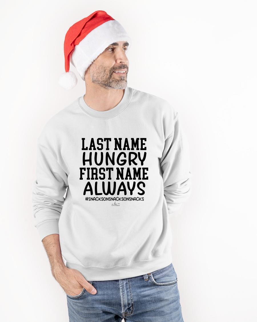 Last Name Hungry First Name Always Tank Top