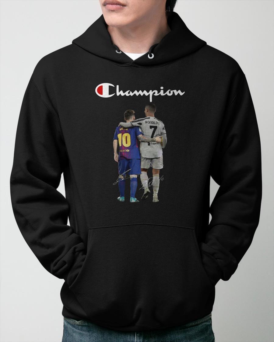 Messi And Ronaldo Champion Hoodie