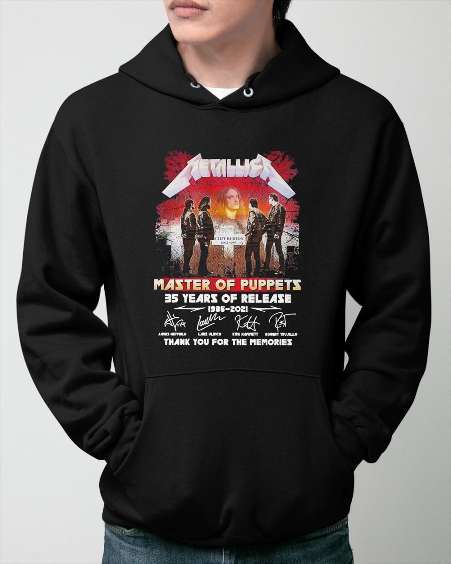 Metallica Master Of Puppets 35 Years Of Release Hoodie