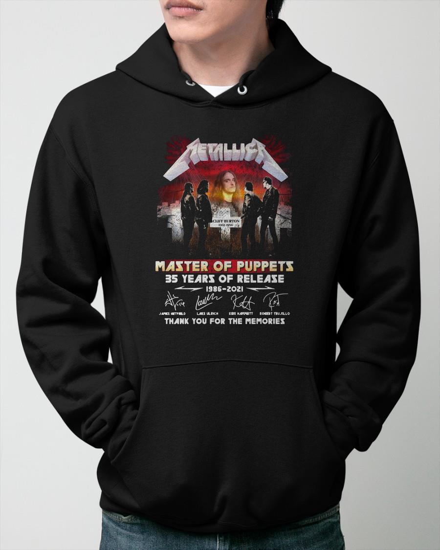 Metallica Master Of Puppets 35 Years Of Release Signatures] Hoodie