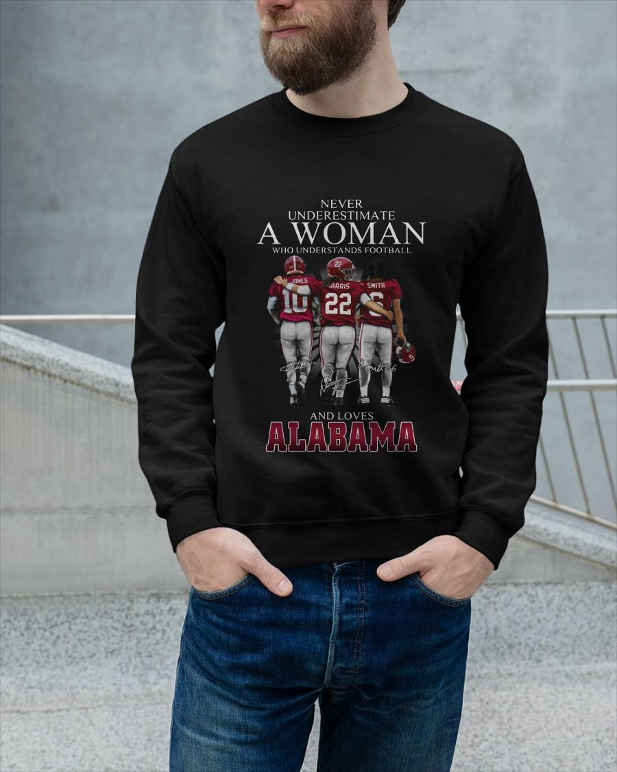 Never Underestimate A Woman Who Understands Football And Loves Alabama Longsleeve