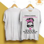 October Is National Breast Cancer Awareness Month Shirt