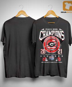 Peach Bowl Champions Georgia Bulldogs Shirt