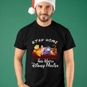 Pooh Stay Home And Watch Disney Movies Shirt