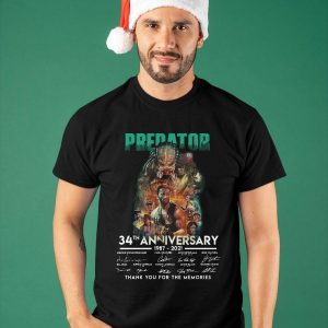 Predator 34th Anniversary Thank You For The Memories Shirt
