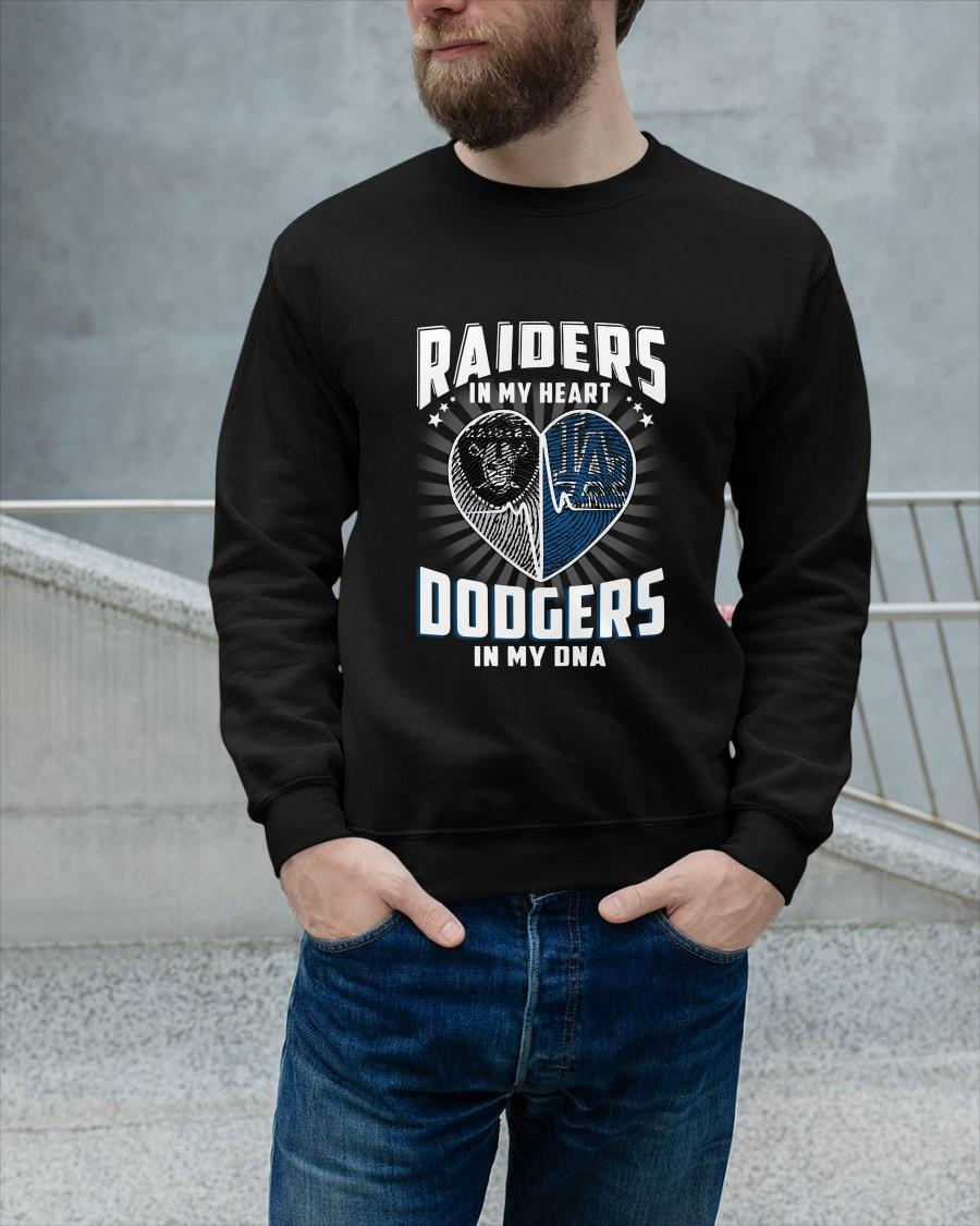 Raiders In My Heart Dodgers In My Dna Sweater