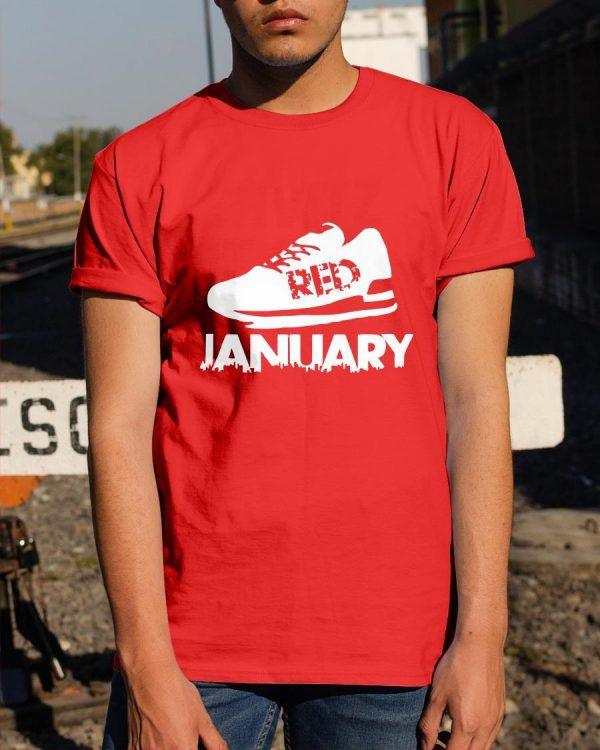 Red January 2021 T Shirt