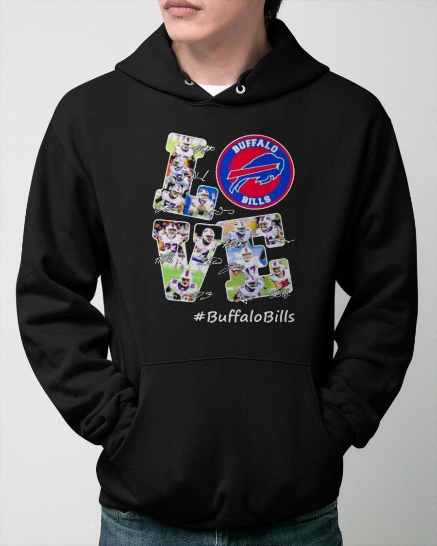 Signature Football Team Love Buffalo Bills Hoodie