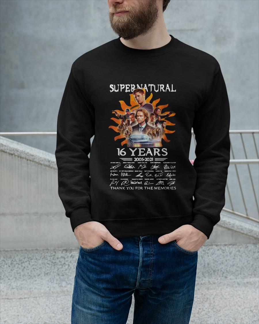 Signatures Supernatural 16 Years 2005 2021 Thank You For The Memories Tank Top
