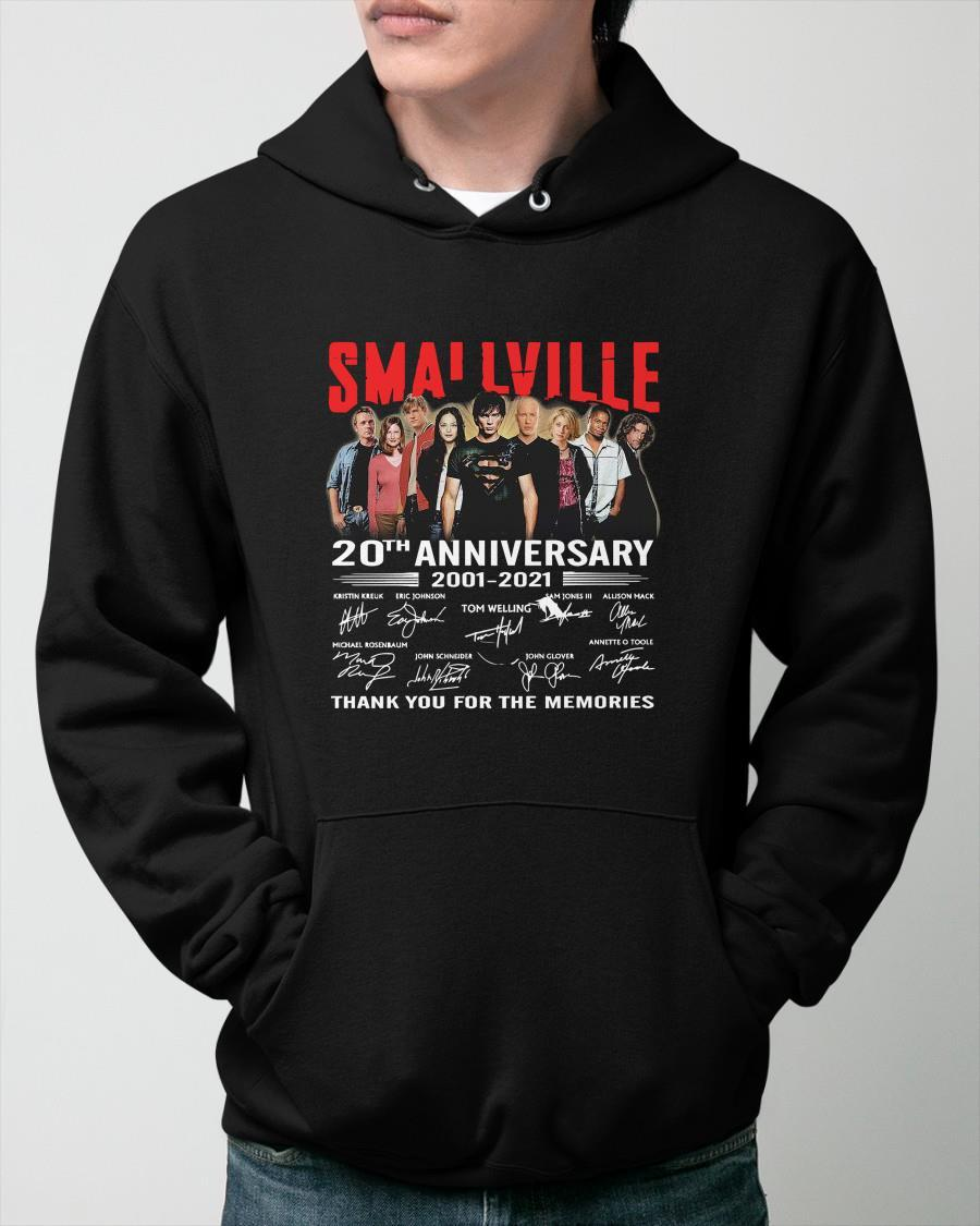 Smallville Tv Series 20th Anniversary 2001 2021 Thank You For The Memories Hoodie