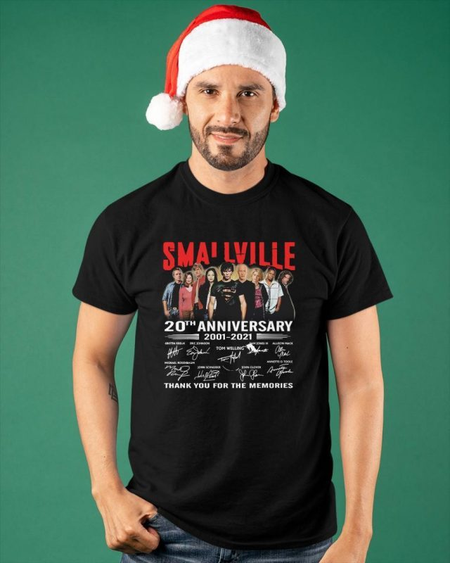Smallville Tv Series 20th Anniversary 2001 2021 Thank You For The Memories Shirt