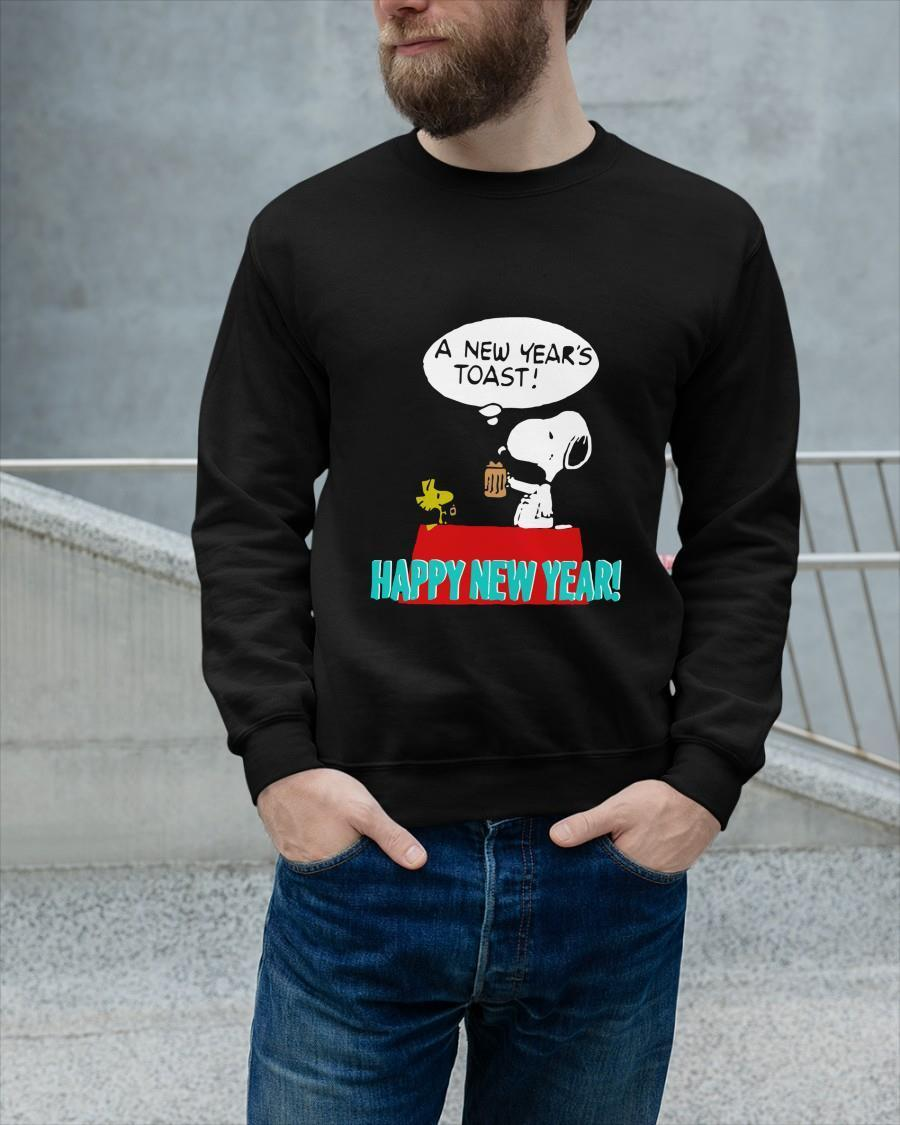 Snoopy A New Year Toast Happy New Year Longsleeve