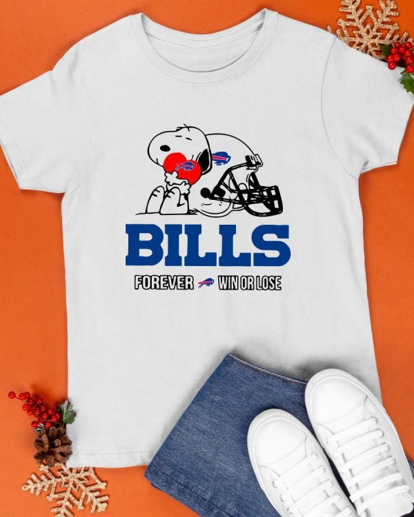 Snoopy Bills Forever Win Or Lose Shirt