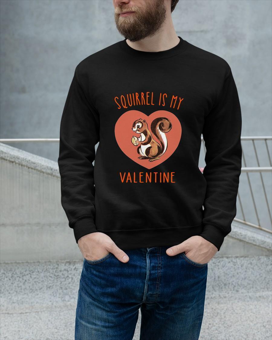 Squirrel Is My Valentine Heart Sweater
