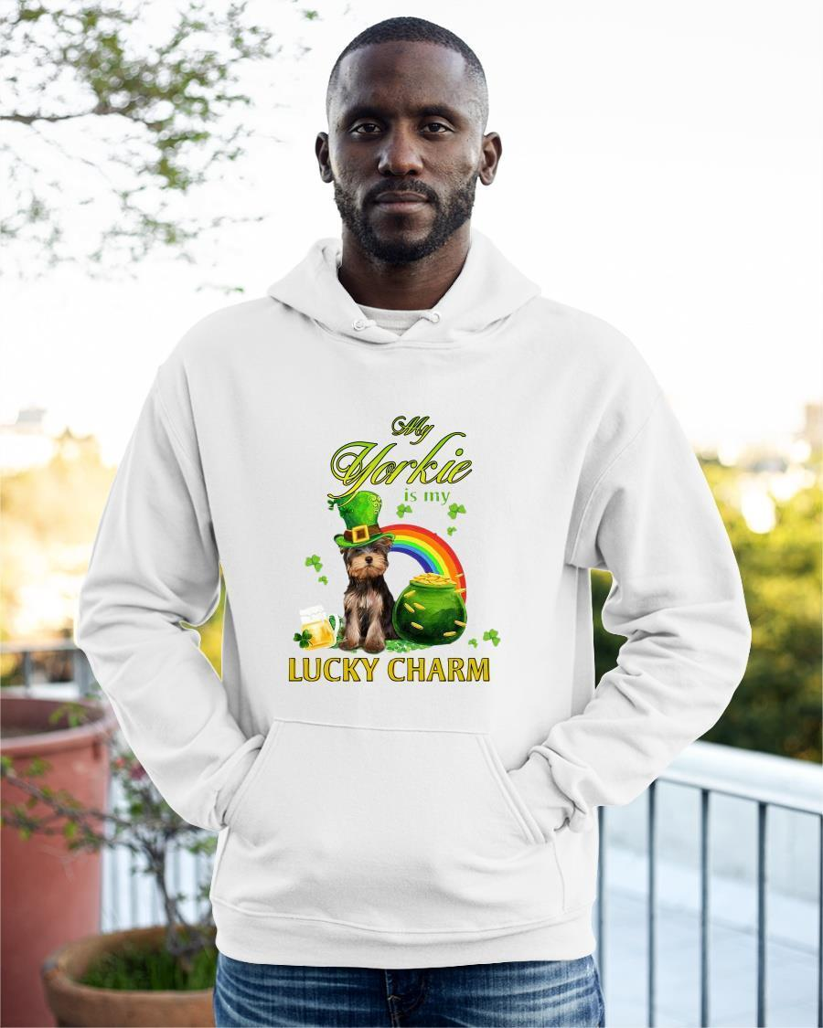 St Patrick's Day My Yorkie Is My Lucky Charm Hoodie