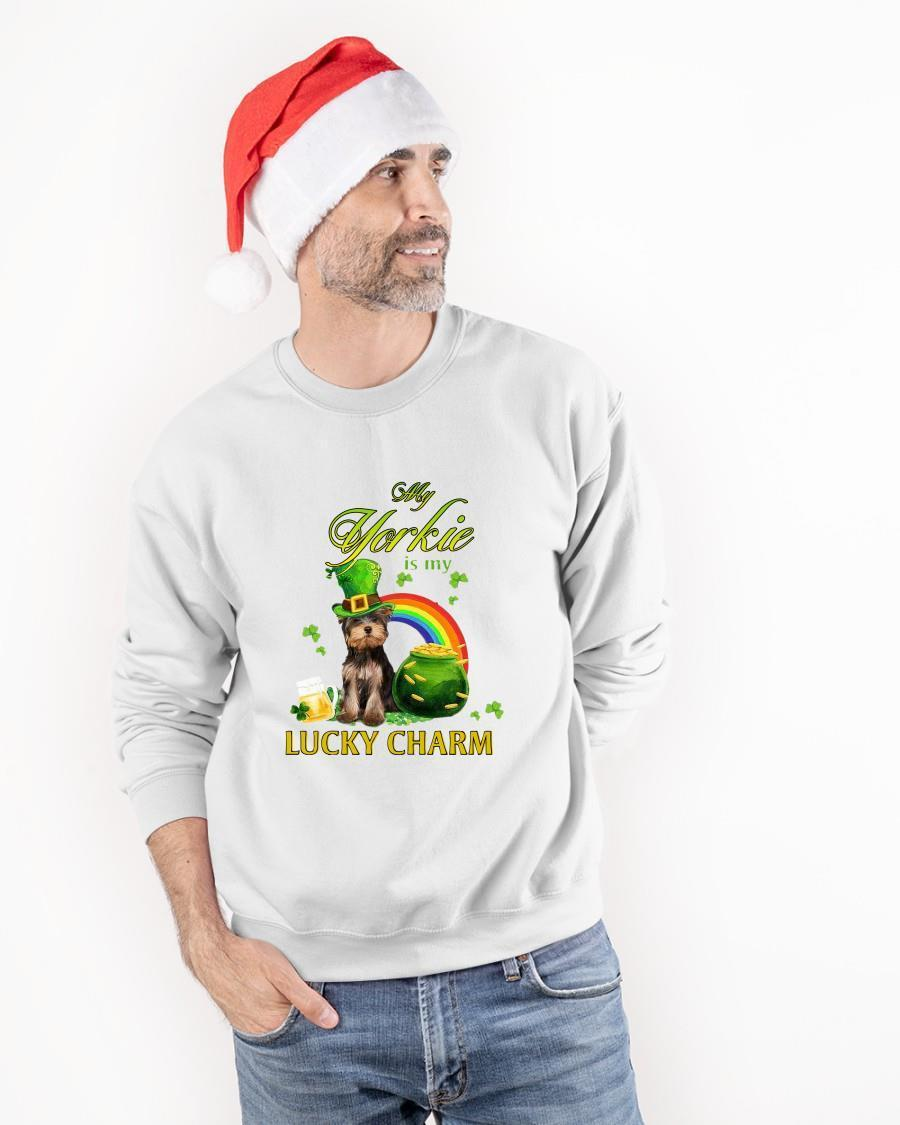 St Patrick's Day My Yorkie Is My Lucky Charm Longsleeve