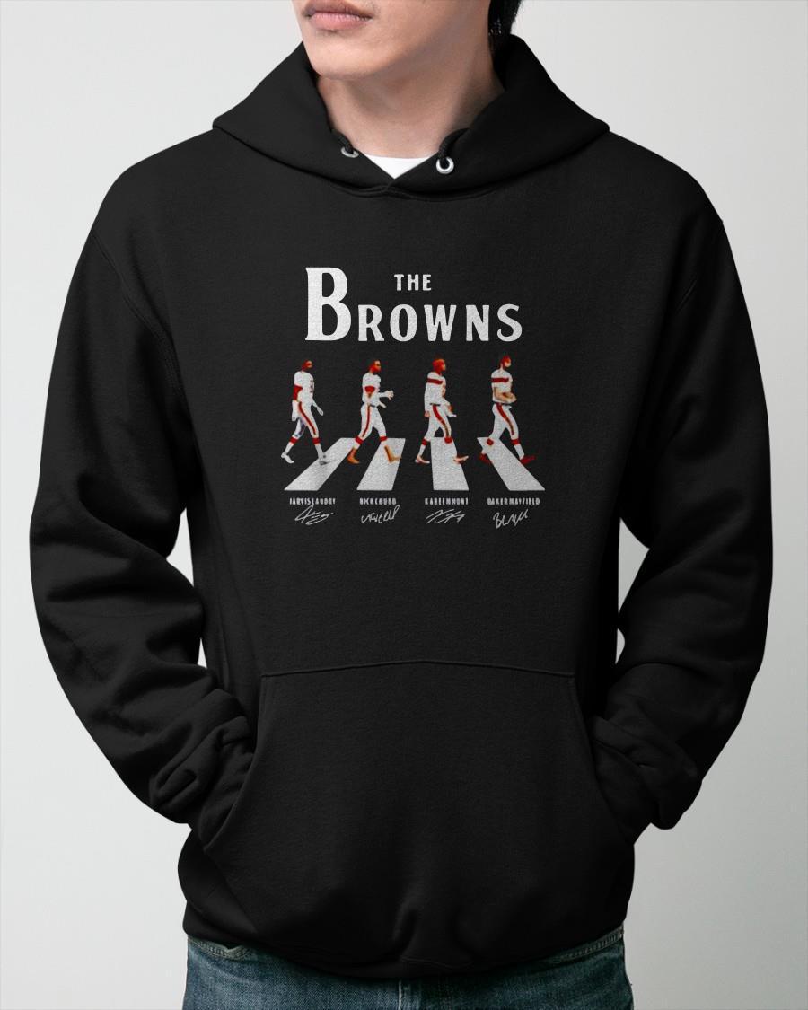 The Abbey Road Cleveland Browns T Hoodie