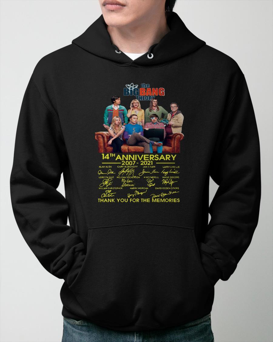 The Big Bang Theory 14th Anniversary Thank You For The Memories Hoodie