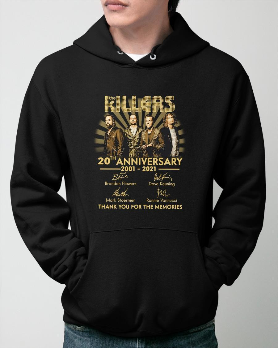 The Killers 20th Anniversary 2001 2021 Thank You For The Memories Hoodie