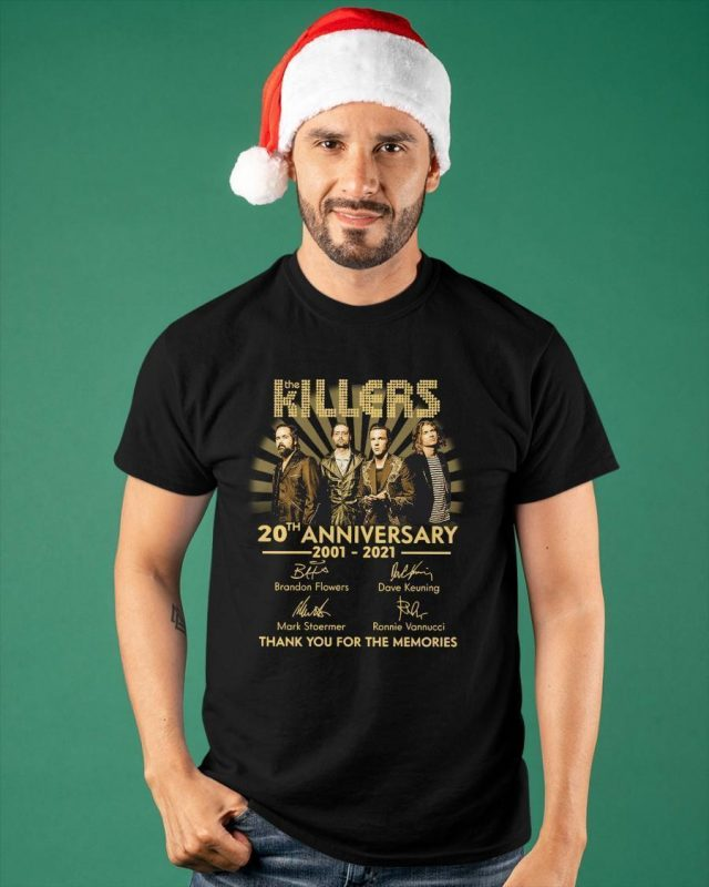 The Killers 20th Anniversary 2001 2021 Thank You For The Memories Shirt