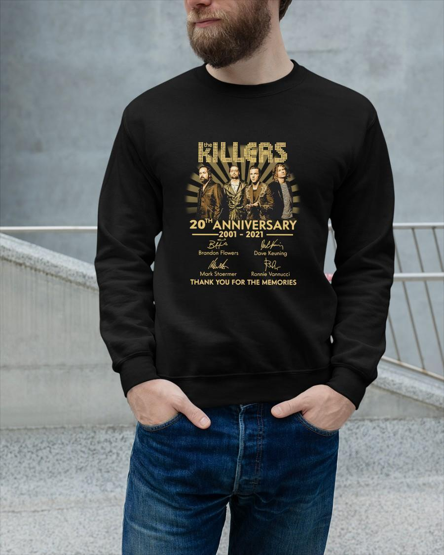 The Killers 20th Anniversary 2001 2021 Thank You For The Memories Sweater