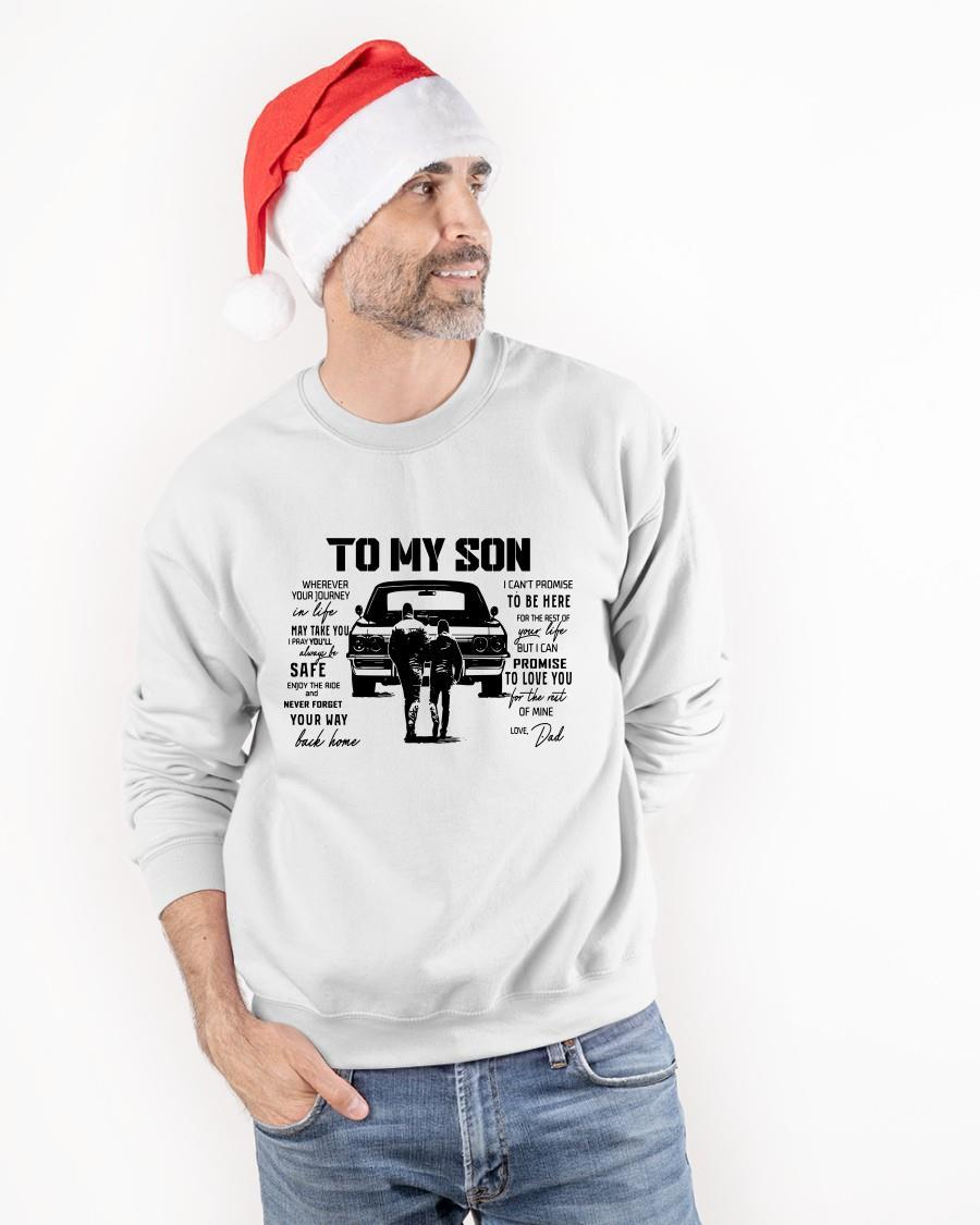 To My Son Wherever Your Journey In Life Sweater