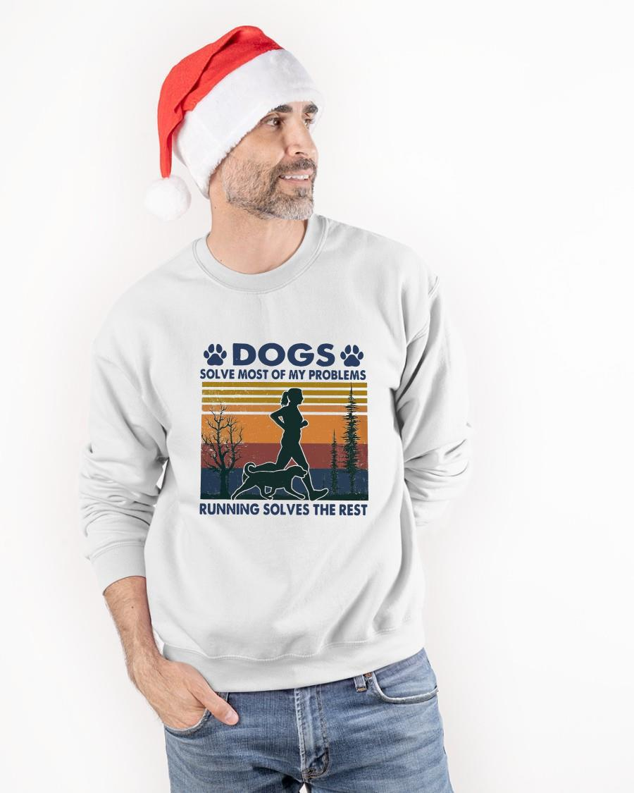 Vintage Dogs Solve Most Of My Problems Running Solves The Rest Longsleeve