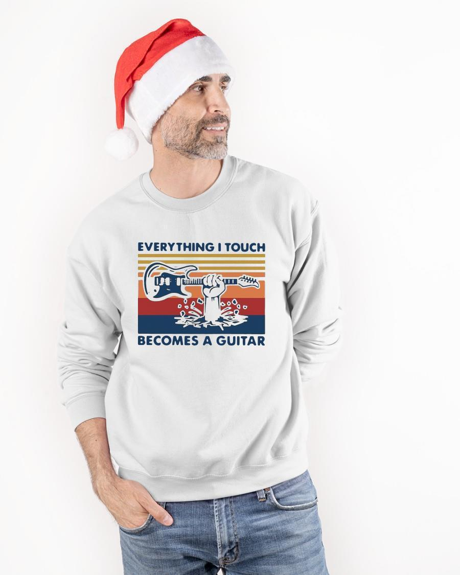 Vintage Everything I Touch Becomes A Guitar Longsleeve