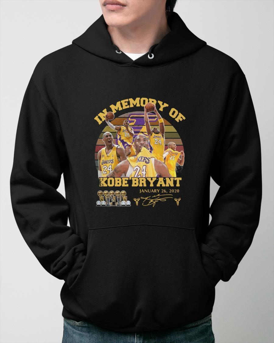 Vintage In Memory Of Kobe Bryant January 26 2020 Hoodie