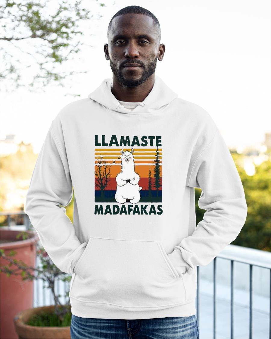 Vintage Llamaste Madafakas Hoodie