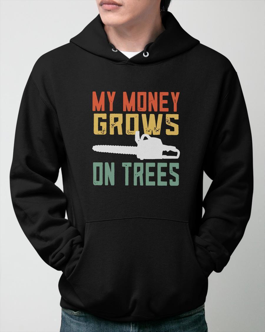 Vintage My Money Grows On Trees Hoodie